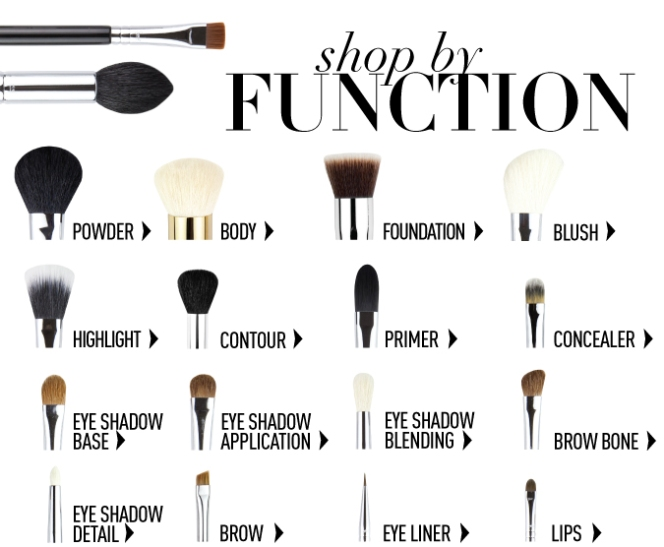 Makeup Brushes and Their Functions
